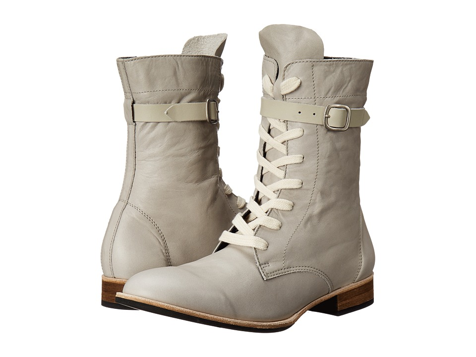 Y's by Yohji Yamamoto - Lace-Up Boots (Grey) Women's Lace-up Boots