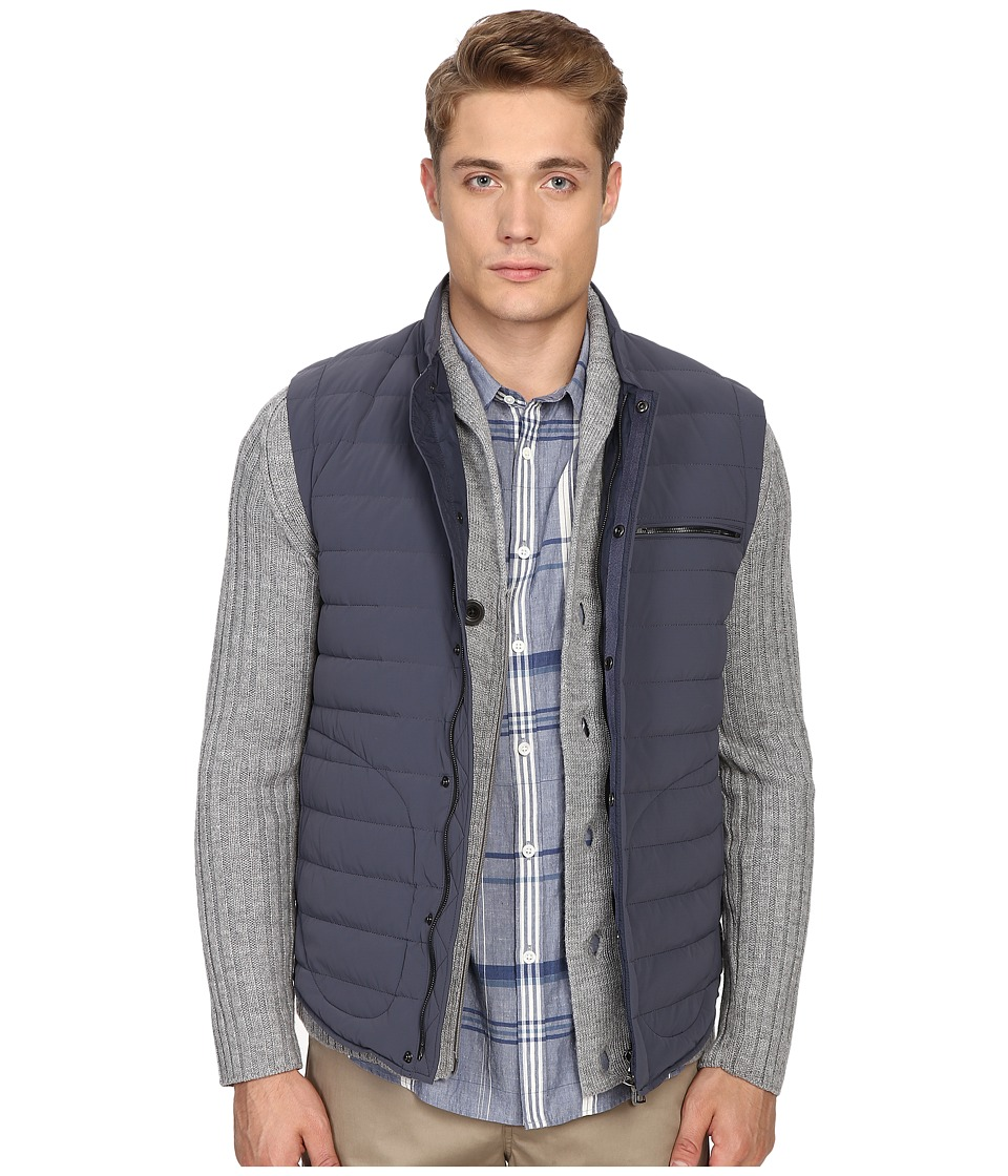 Vince - Quilted Nylon Down-Fill Gilet (Pewter) Men's Clothing