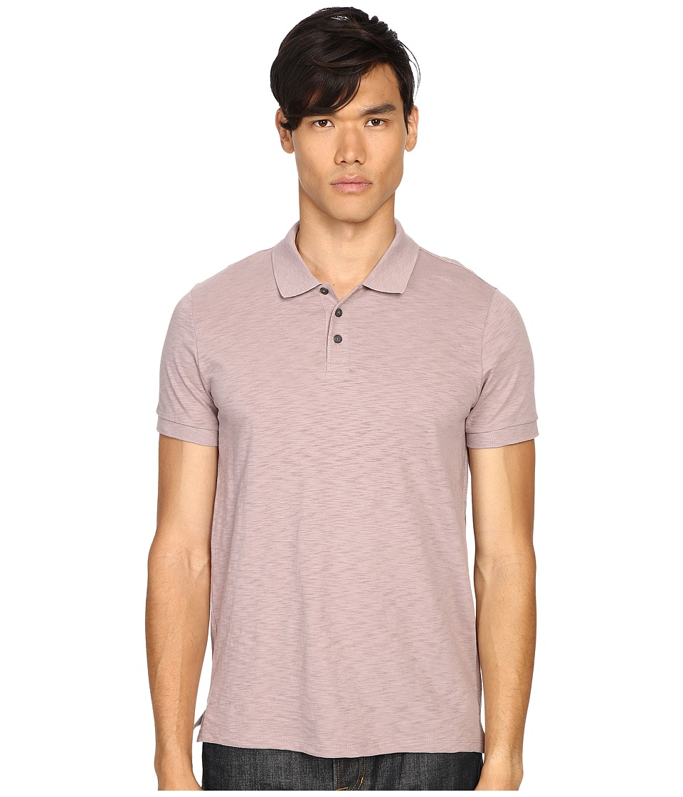 Vince - Slub Cotton Short Sleeve Classic Polo (Dusk Sky) Men's Short Sleeve Pullover