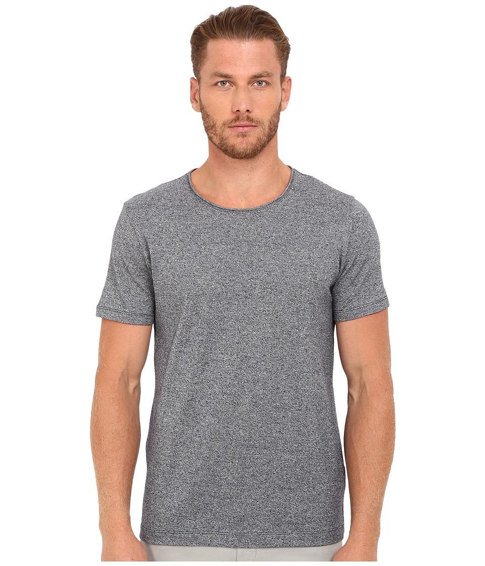 Vince - Rustic Mouline Short Sleeve Crew (Coastal Blue) Men's Clothing