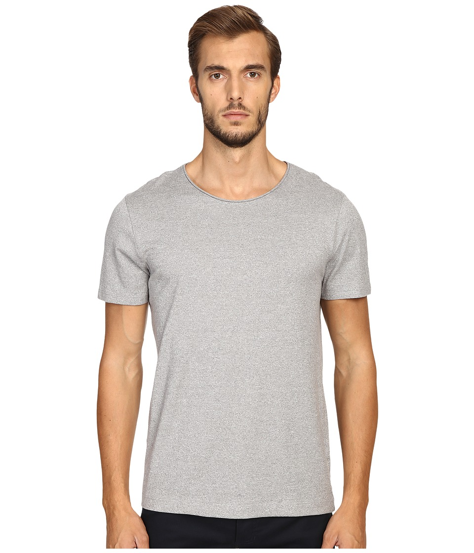 Vince - Rustic Mouline Short Sleeve Crew (Smoked Grey) Men's Clothing