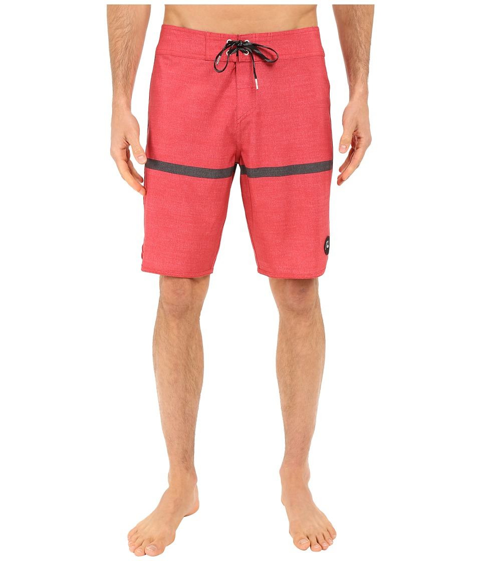 Quiksilver - Stripe Scallop 20 Boardshorts (American Beauty) Men's Swimwear