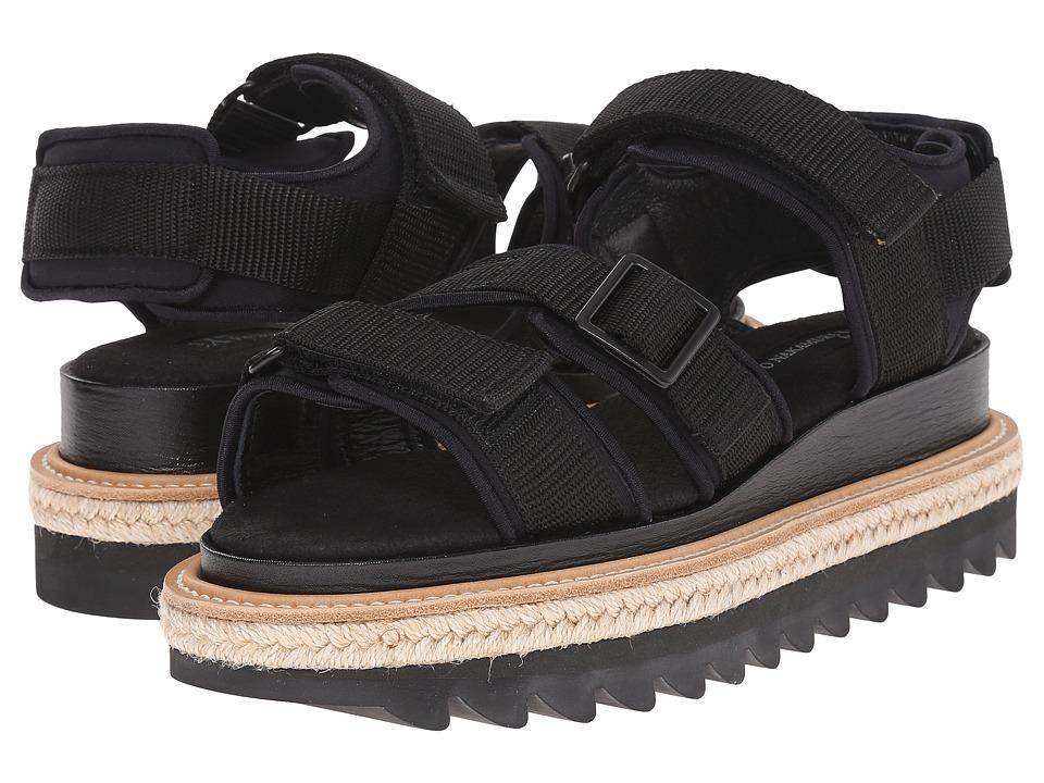 Y's by Yohji Yamamoto - Shark Strap Sandals (Black) Women's Sandals