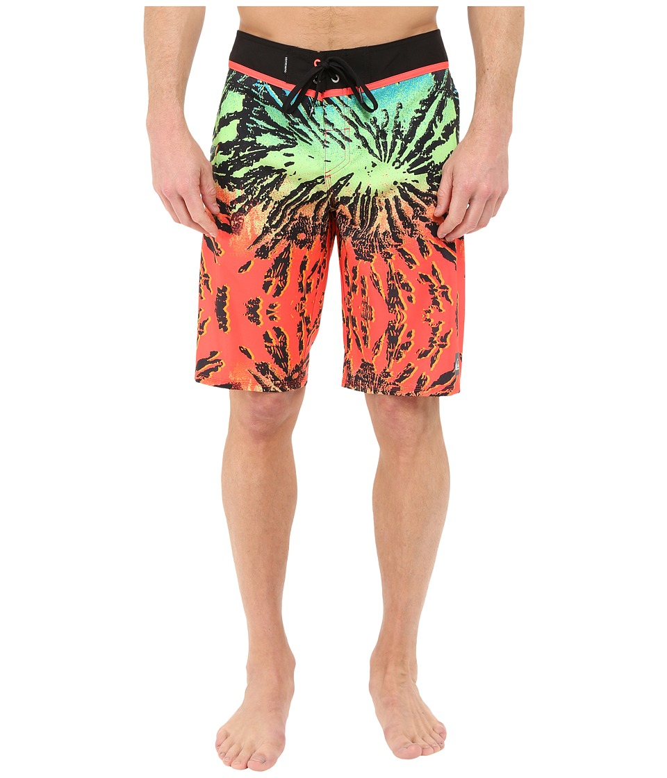 Quiksilver - Glitched 21 Boardshorts (Coral) Men's Swimwear