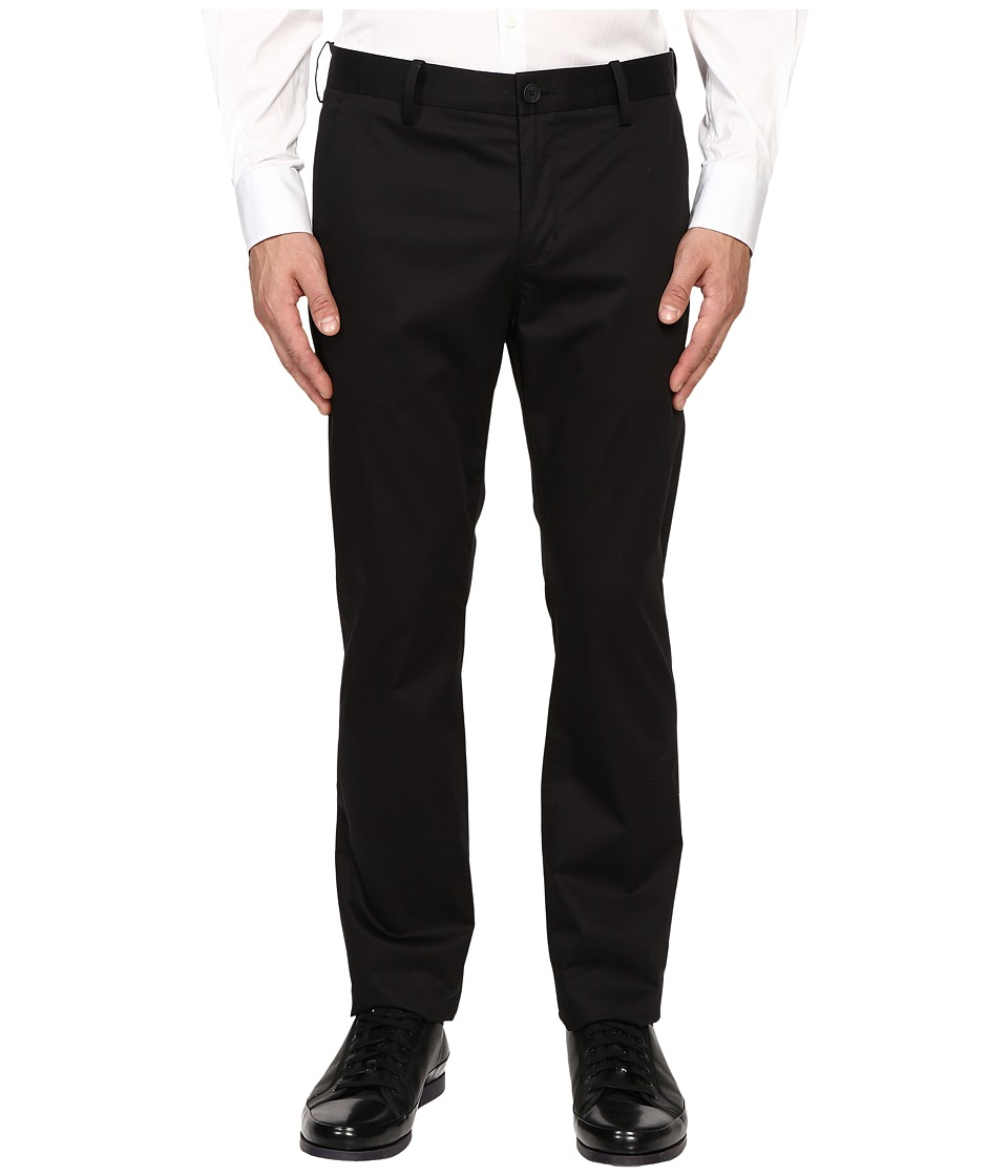 Vince - Cotton Sateen Urban Trousers (Black) Men's Casual Pants