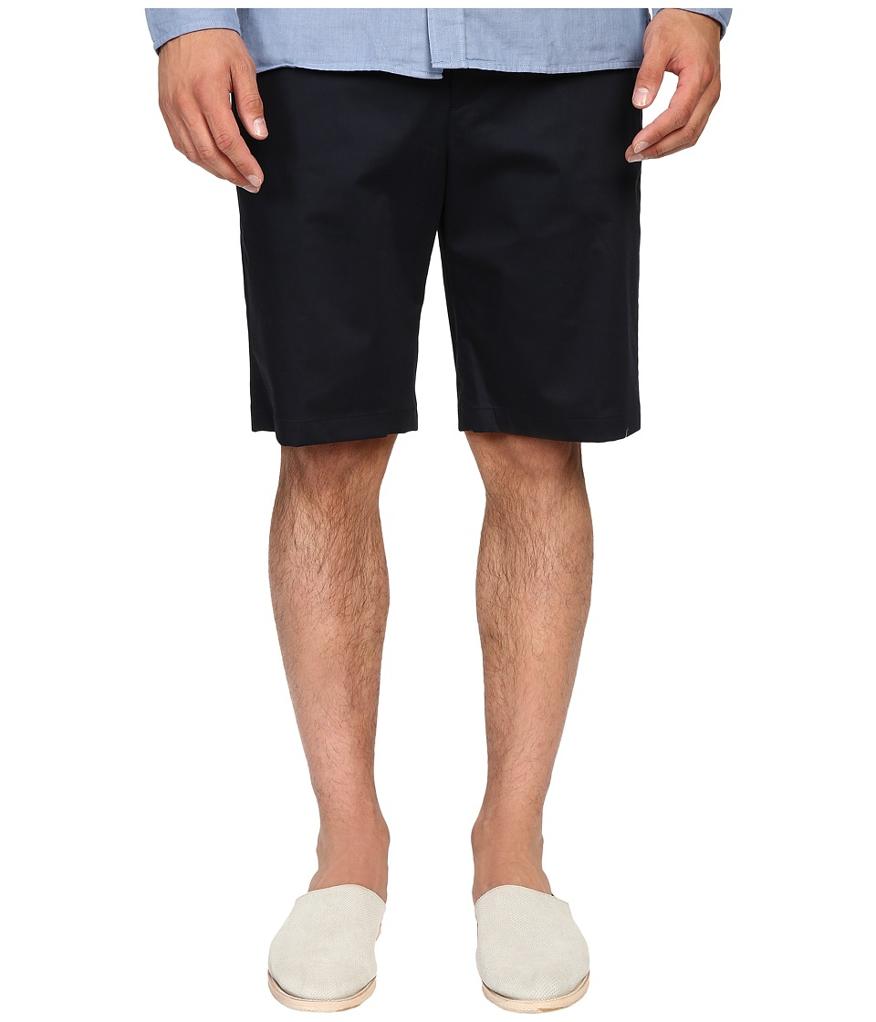 Vince - Cotton Sateen Urban Shorts (Navy) Men's Shorts
