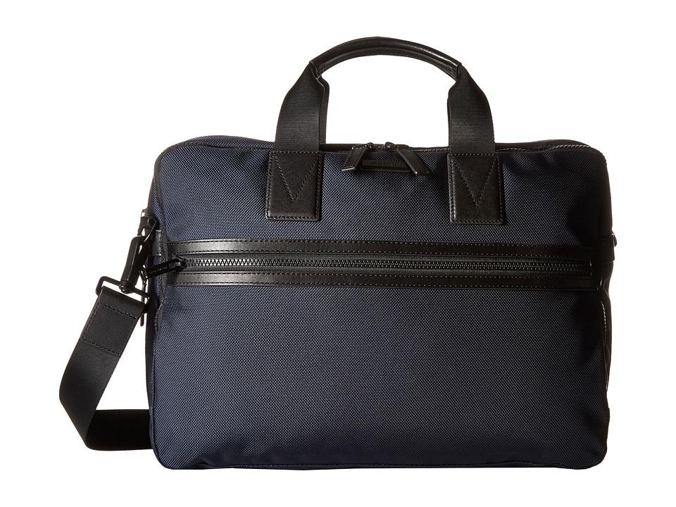 Michael Kors - Parker Ballistic Nylon Large Briefcase (Navy) Briefcase Bags