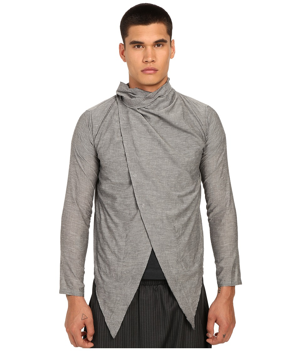 PRIVATE STOCK - The Atilla Cape (Light Grey) Men's Clothing