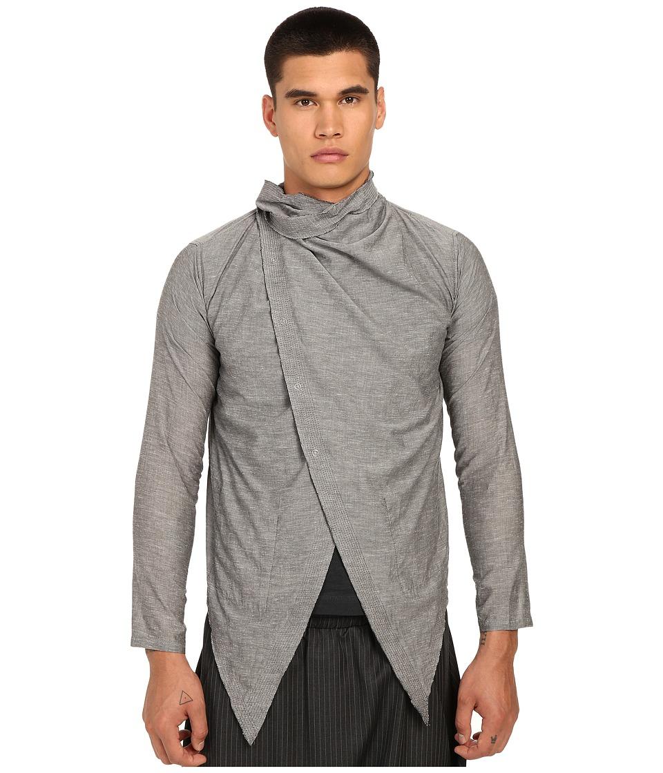 PRIVATE STOCK - The Atilla Cape (Light Grey) Men's Clothing