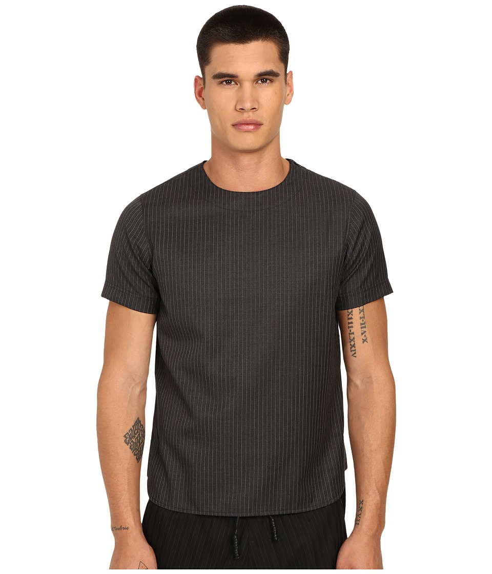 PRIVATE STOCK - The Parker T-Shirt (Grey Pinstripe) Men's T Shirt