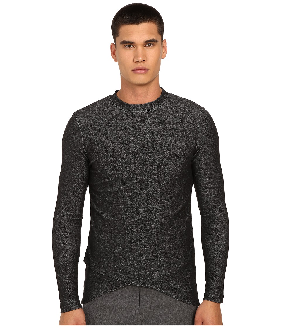 PRIVATE STOCK - The Mael Long Sleeve T-Shirt (Grey) Men's T Shirt