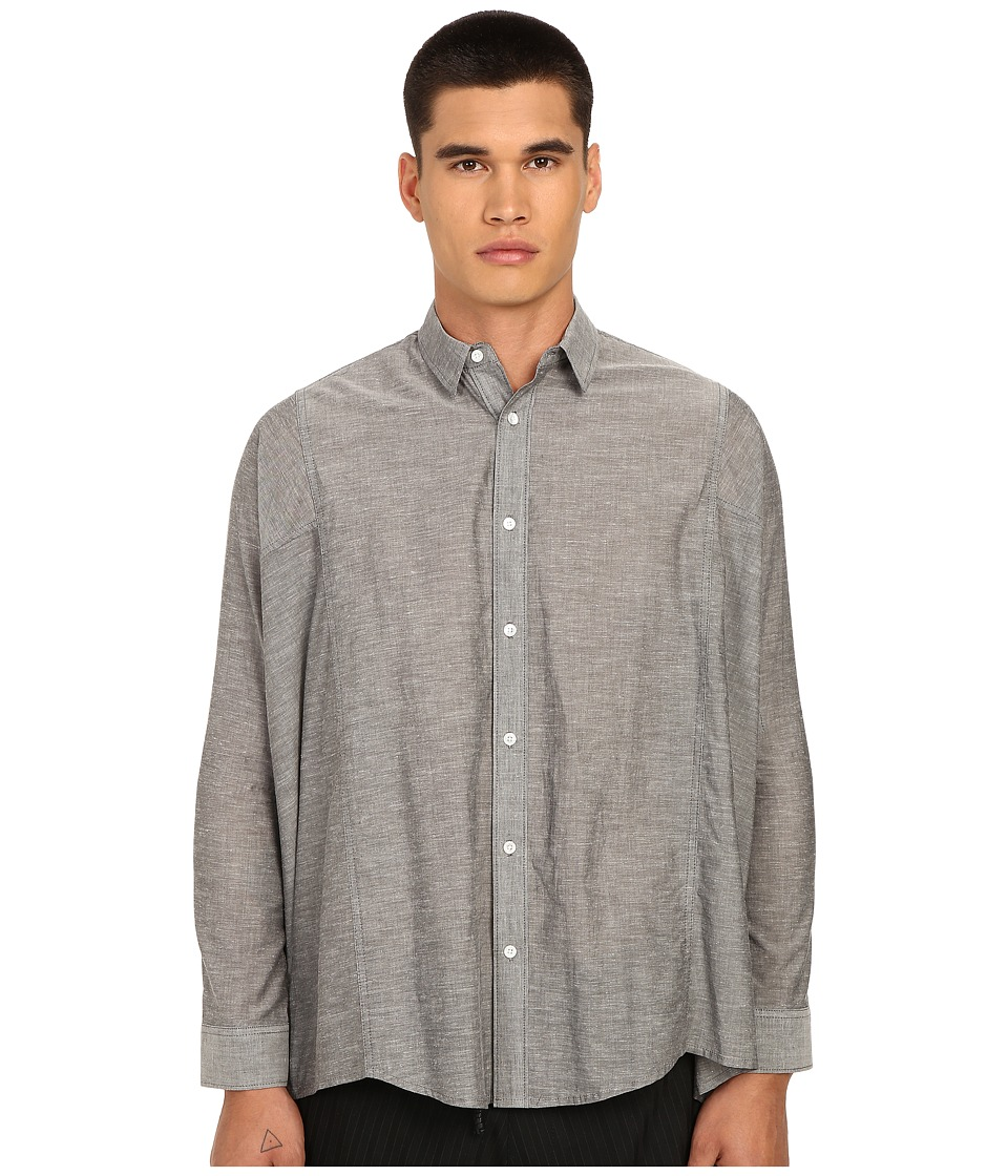 PRIVATE STOCK - The Wayne Shirt (Grey) Men's Long Sleeve Button Up