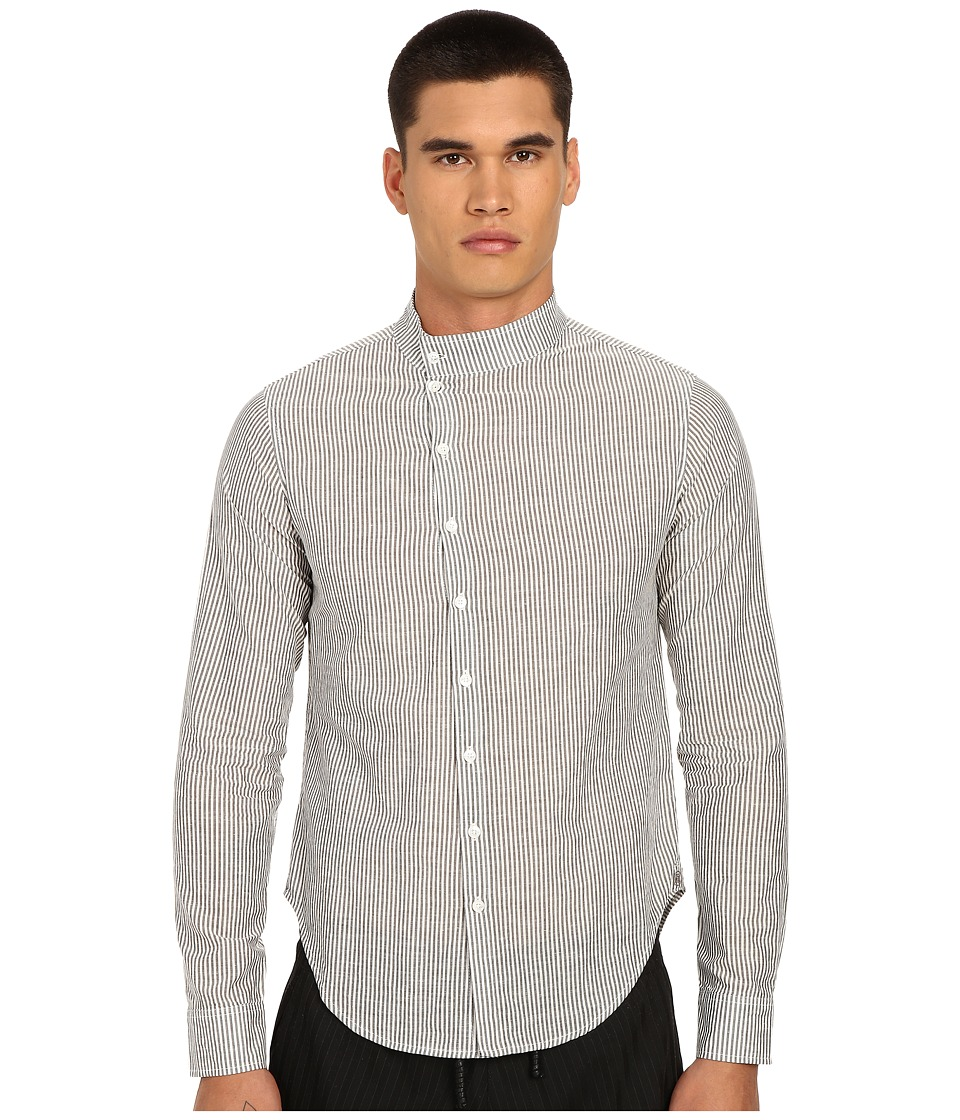 PRIVATE STOCK - The Generation Shirt (Grey Pinstripe) Men's Long Sleeve Button Up