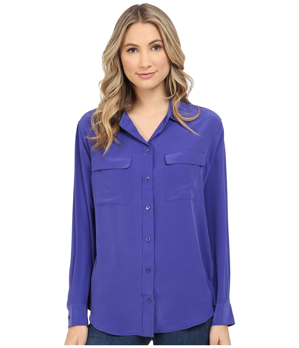 EQUIPMENT - Signature Blouse (Biro Blue) Women's Blouse