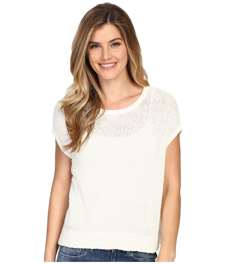Lilla P - Eyelash Easy Scoop Neck (Ecru) Women's Clothing
