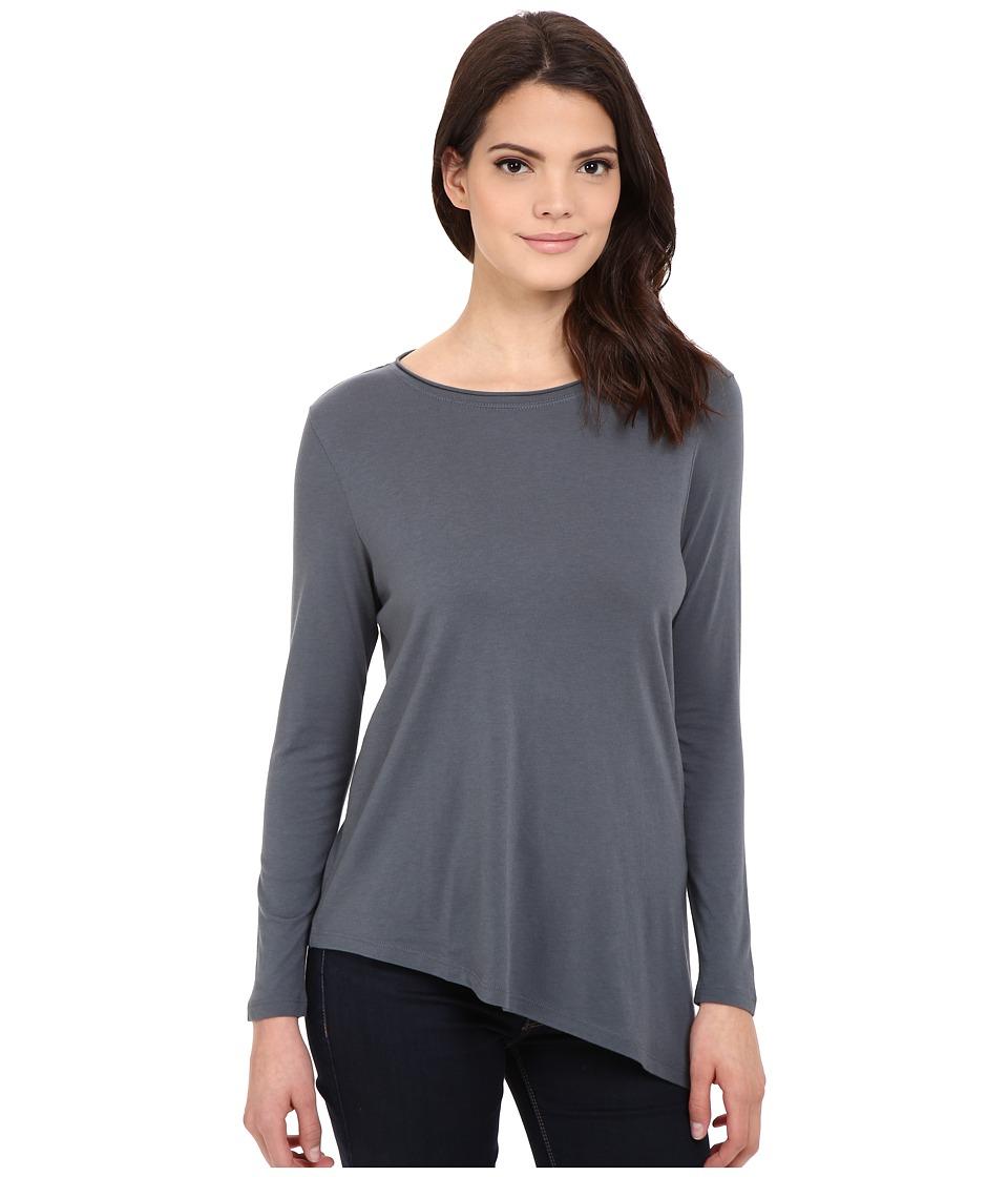 Lilla P - Pima Modal Long Sleeve Boat Neck (Carbon) Women's T Shirt