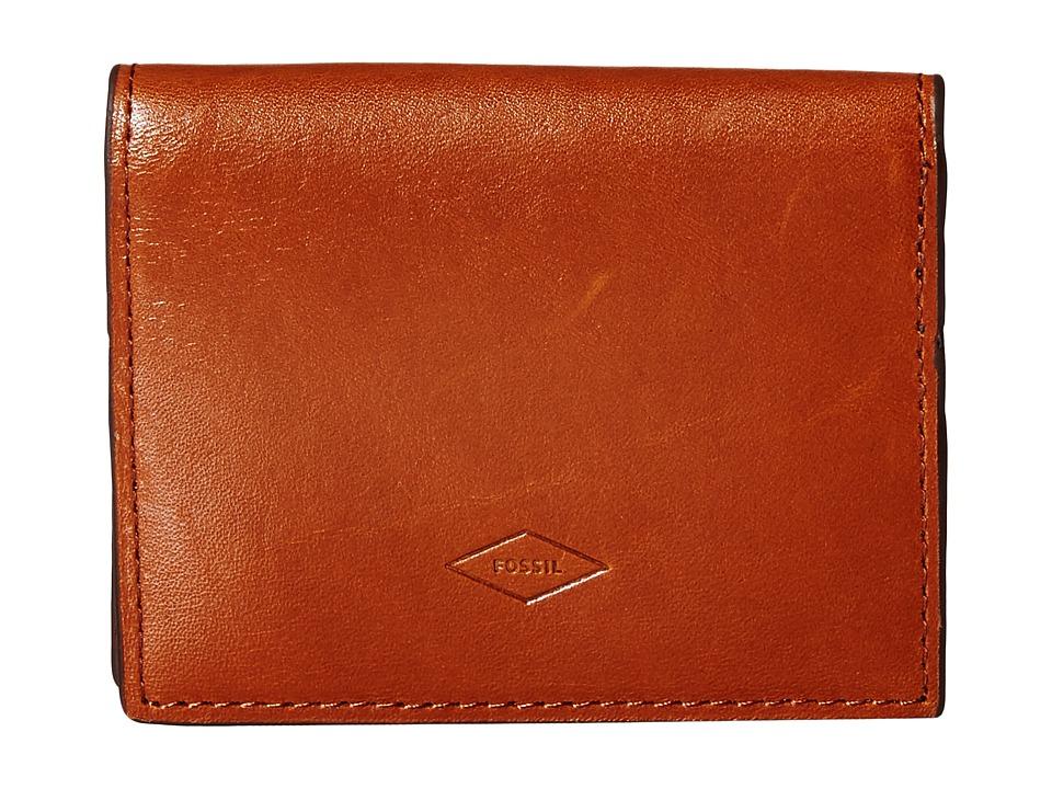 Fossil - Isaac Card Case Bifold (Saddle) Bi-fold Wallet
