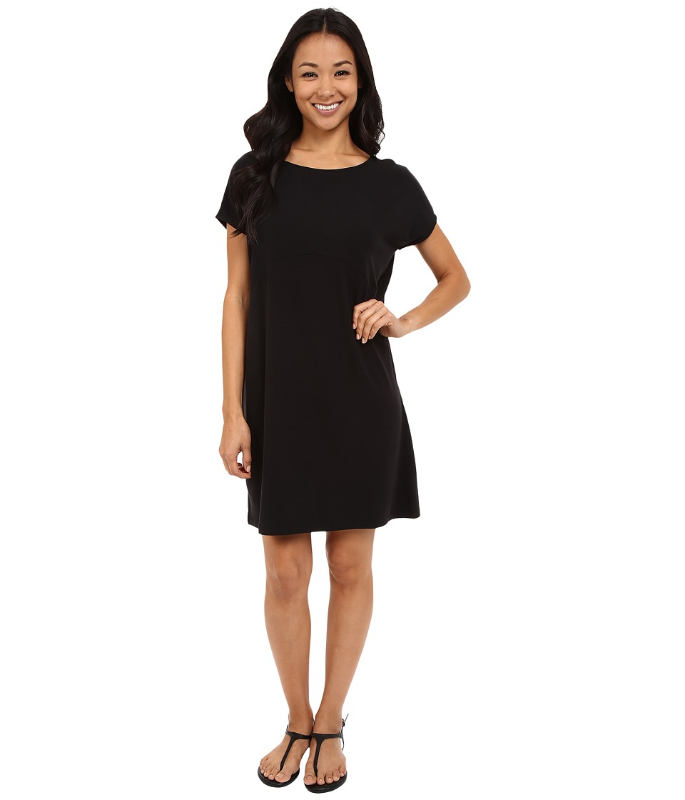 Lilla P - Stretch Jersey Easy Tieback Dress (Black) Women's Dress