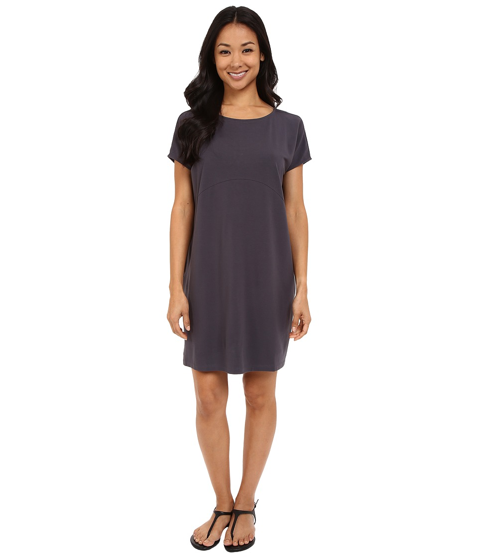 Lilla P Stretch Jersey Easy Tieback Dress (Steel) Women