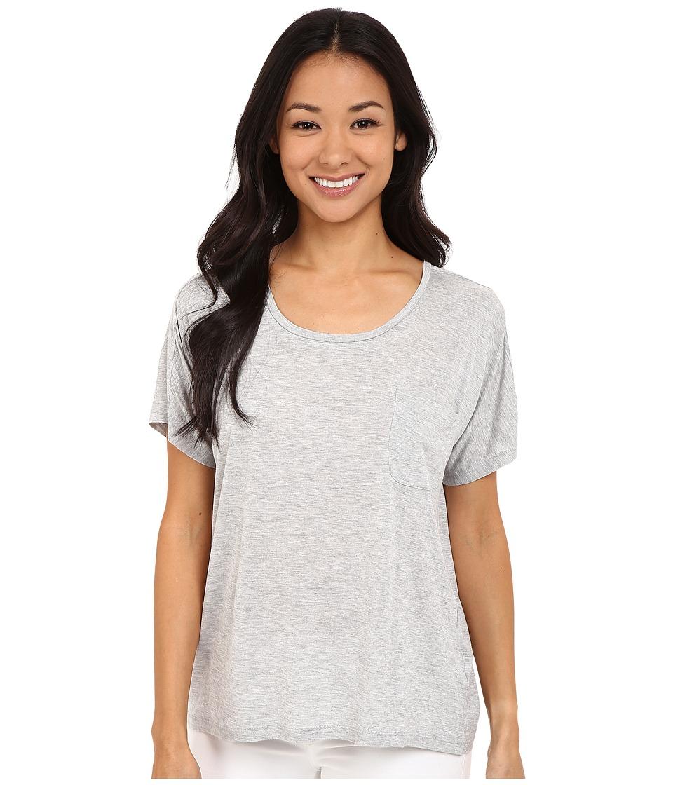 Lilla P - Warm Viscose Short Sleeve Pocket Tee (Heather Grey 2) Women's T Shirt