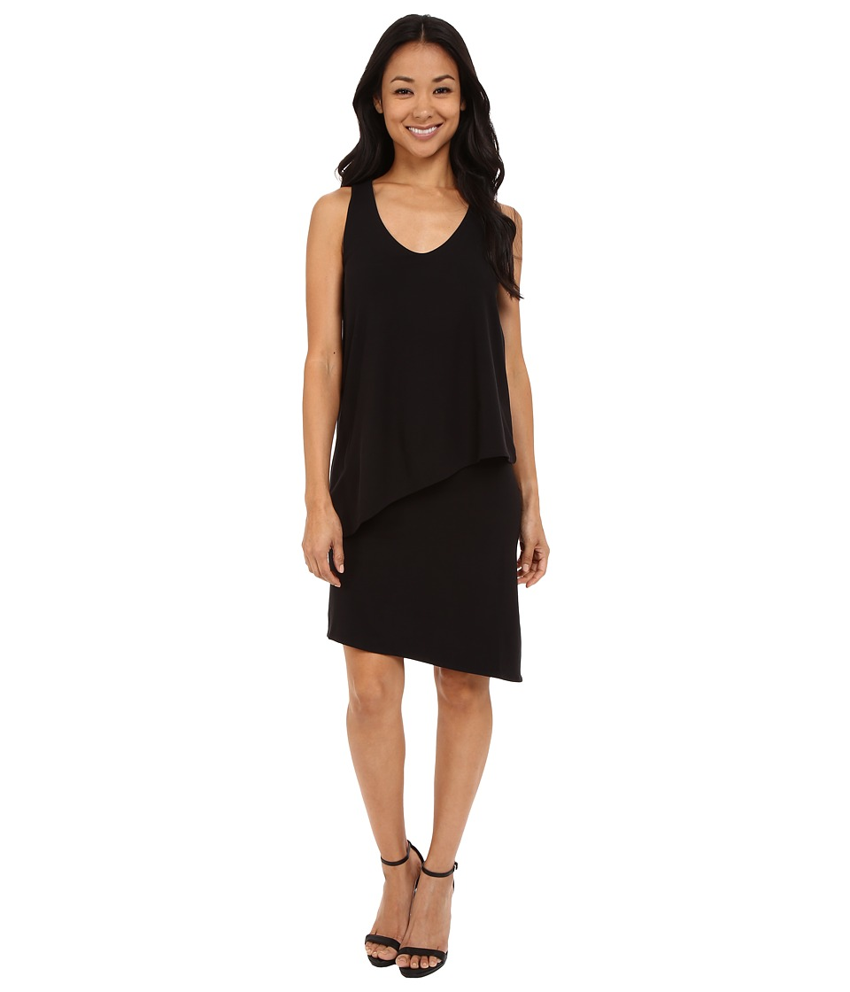 Lilla P - Stretch Jersey Double Layer Tank Dress (Black) Women's Dress