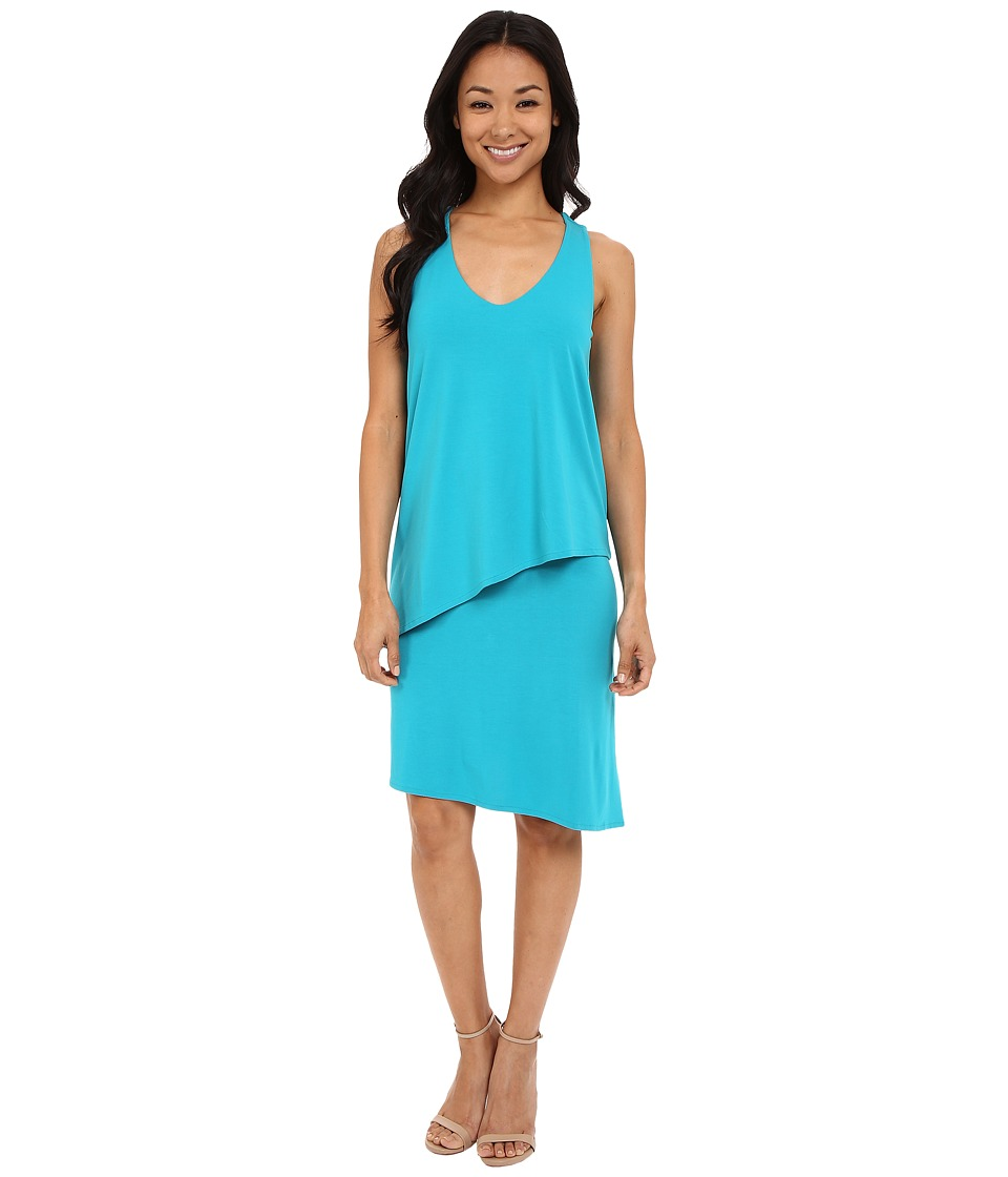 Lilla P Stretch Jersey Double Layer Tank Dress (Mosaic) Women