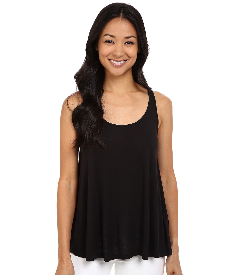 Lilla P - Warm Viscose Swing Tank Top (Black) Women's Sleeveless