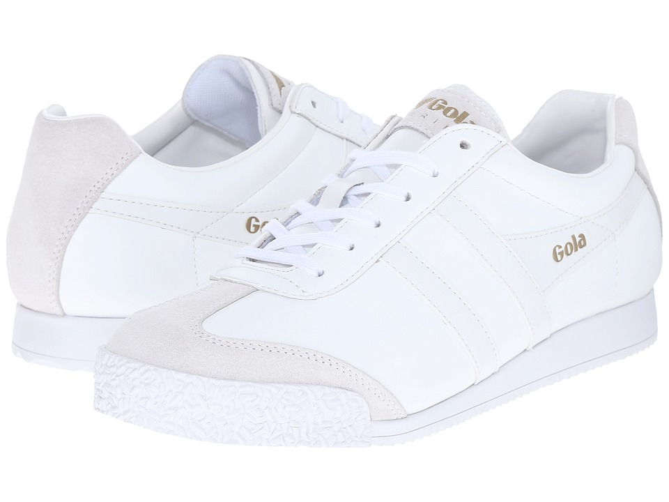 Gola Harrier Leather (White/White) Women