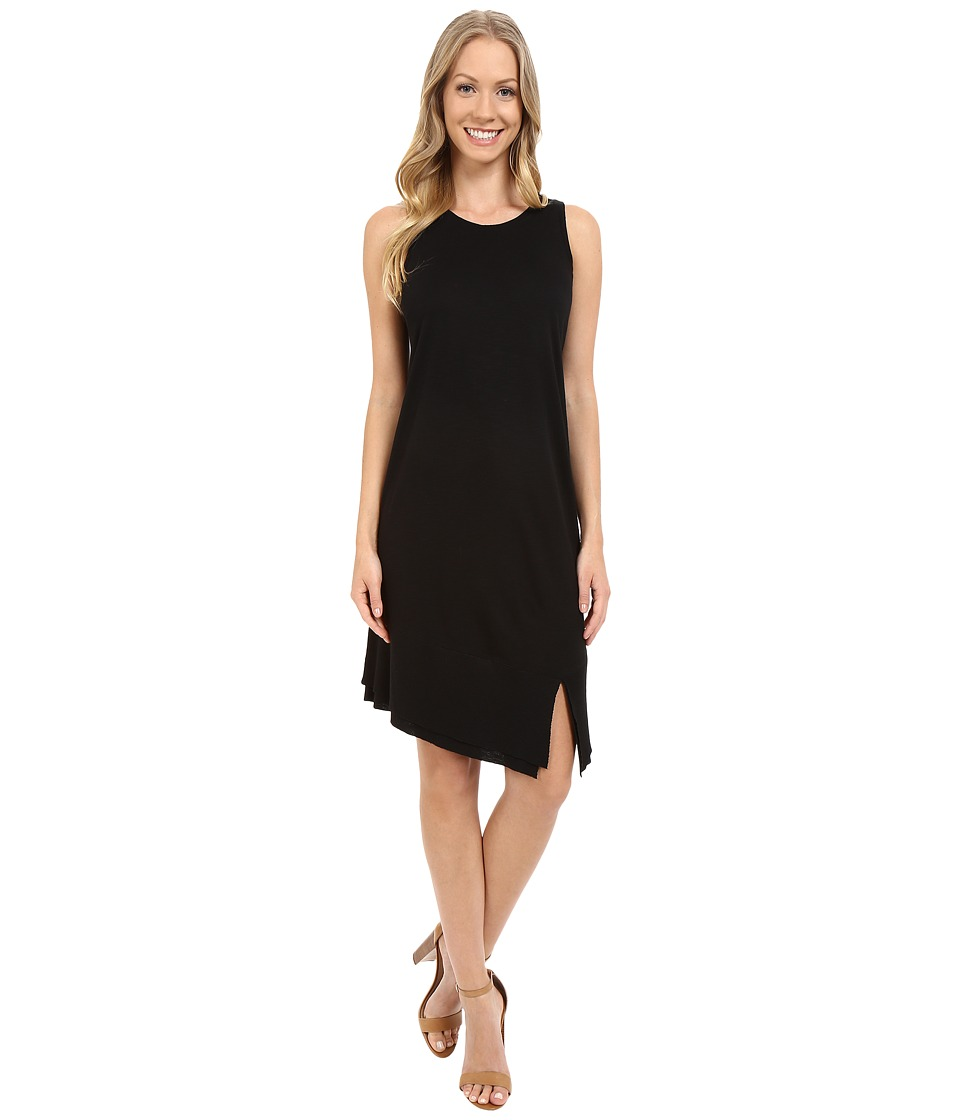 Lilla P Pima Modal Slub Rib Bottom Tank Dress (Black) Women