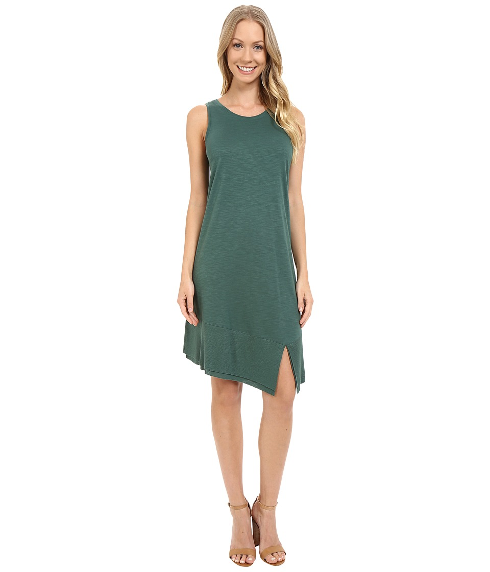 Lilla P Pima Modal Slub Rib Bottom Tank Dress (Riverstone) Women