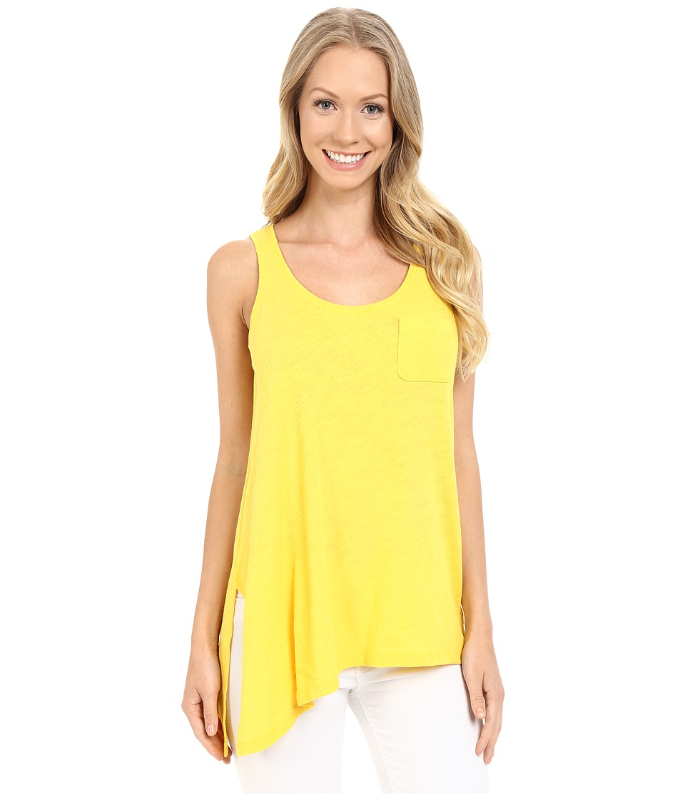Lilla P - Flame Gauze Asymmetrical Pocket Front Tank Top (Marigold) Women's Sleeveless