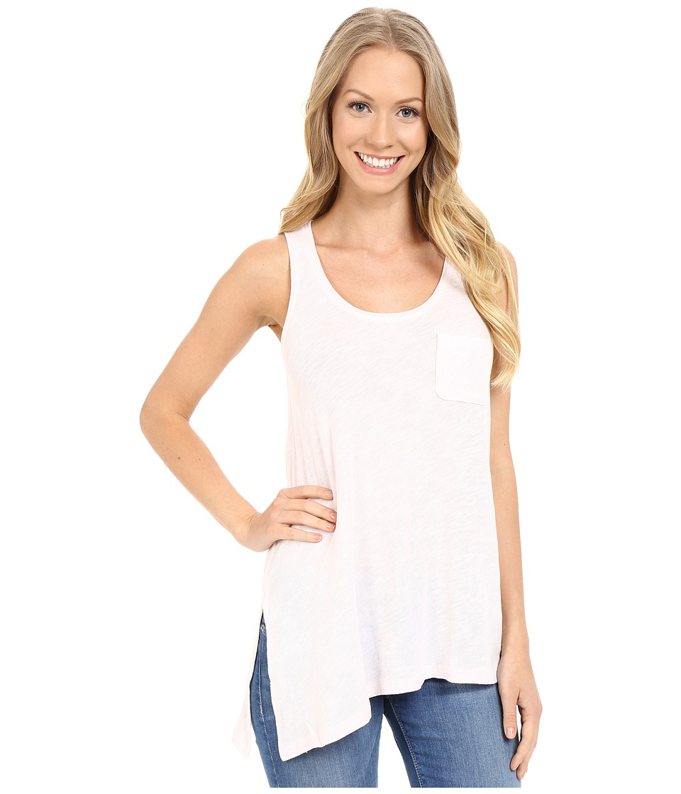 Lilla P - Flame Gauze Asymmetrical Pocket Front Tank Top (Petal Pink) Women's Sleeveless
