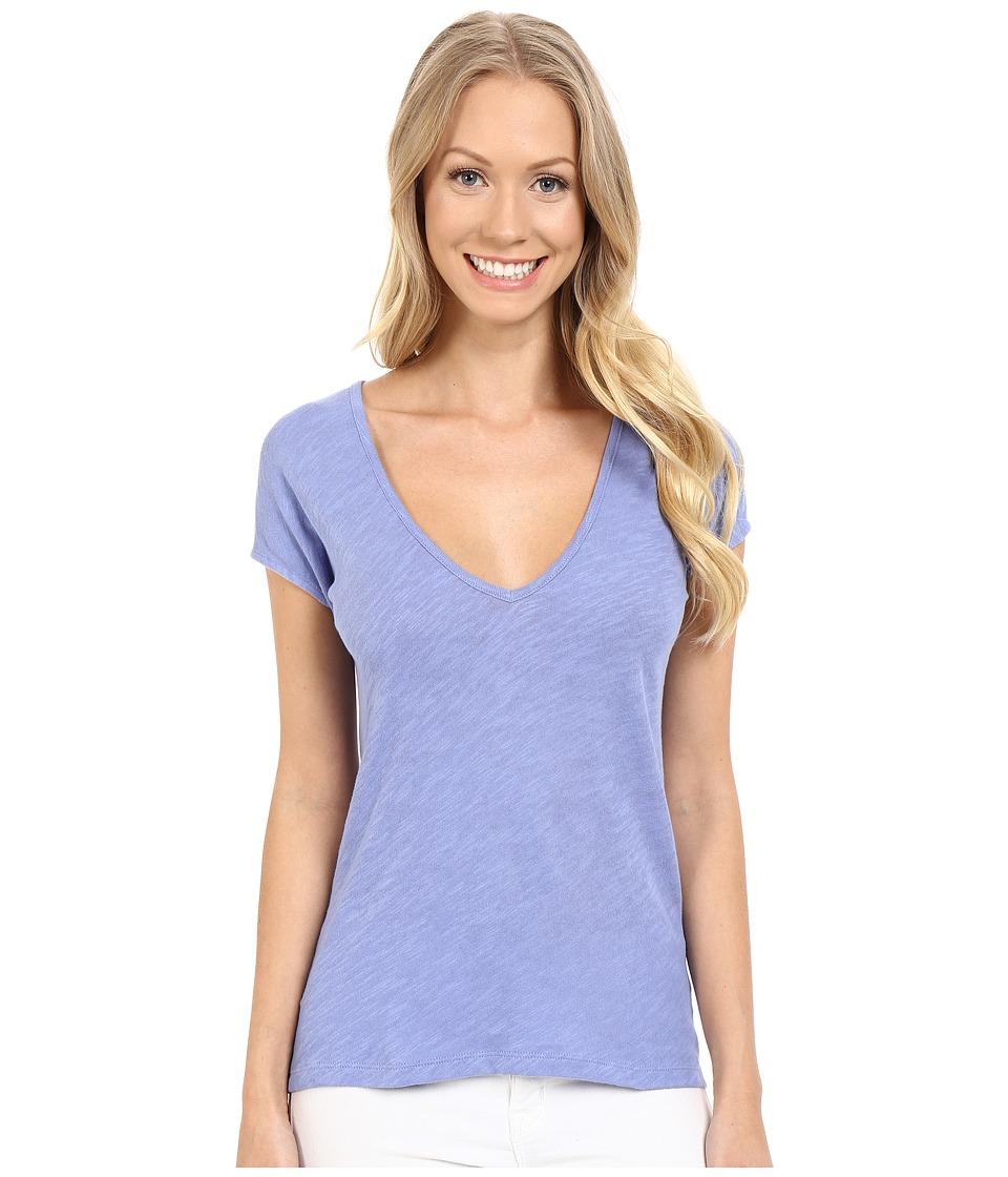 Lilla P - Flame Gauze Sleeveless Double V-Neck (Cornflower) Women's T Shirt