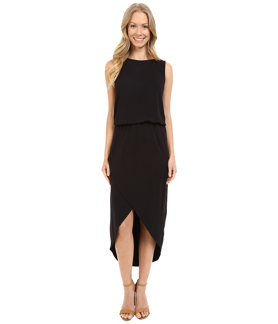 Lilla P - Stretch Jersey Tulip Hem Dress (Black) Women's Dress