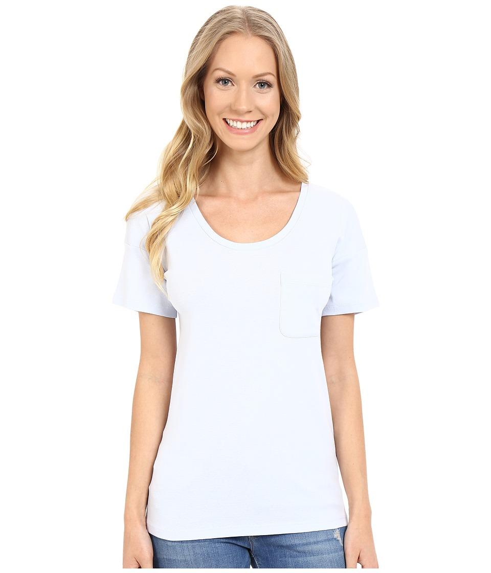 Lilla P - Fine Rib Boyfriend Tee (Seabreeze) Women's T Shirt