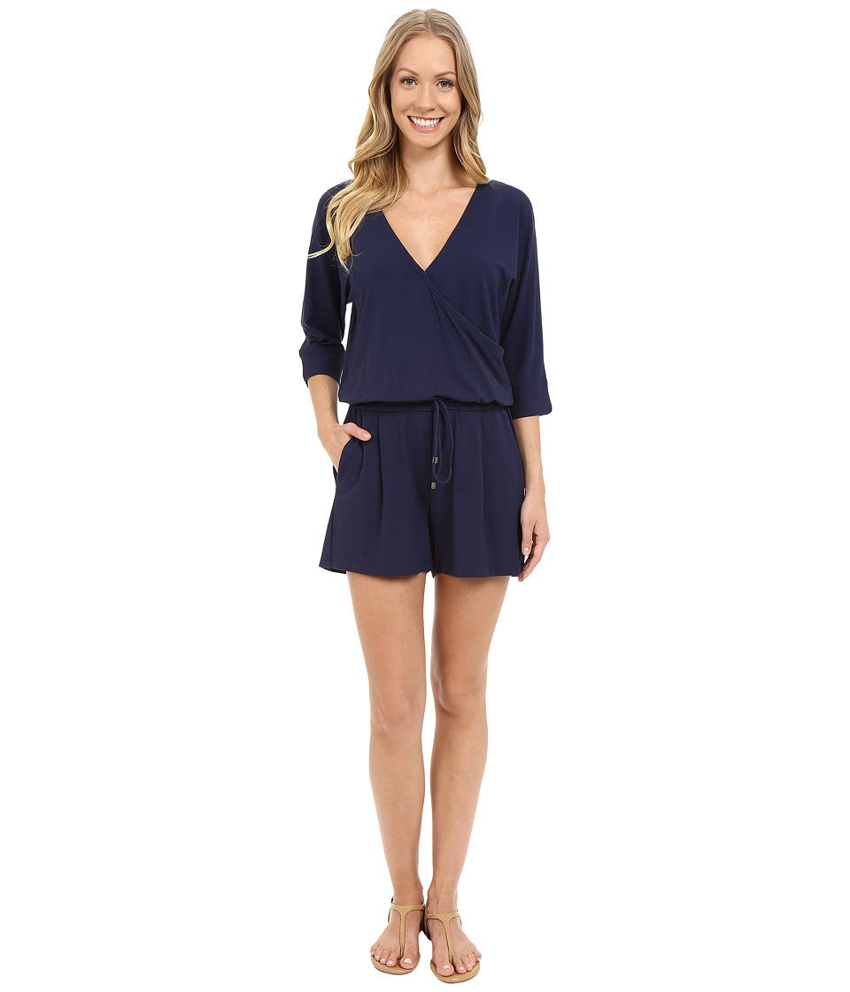 Lilla P - Stretch Jersey Easy Romper (Peacoat) Women's Jumpsuit & Rompers One Piece