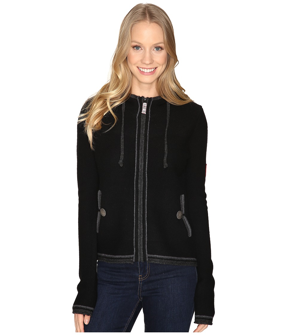 Obermeyer - Charlie Knit Hoodie (Black) Women's Sweatshirt