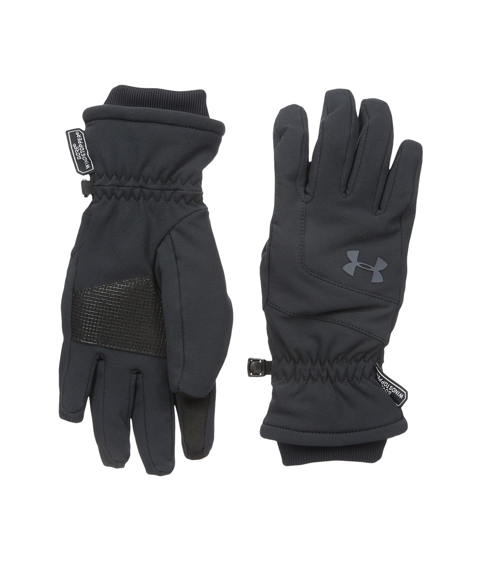 Under Armour - UA Wind Stopper Glove (Black/Black/Stealth Gray) Extreme Cold Weather Gloves