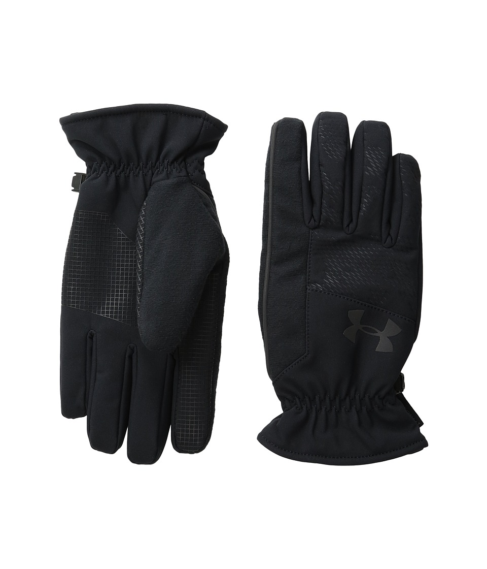 Under Armour CGI Softshell Run Glove (Black/Black/Black) Liner Gloves
