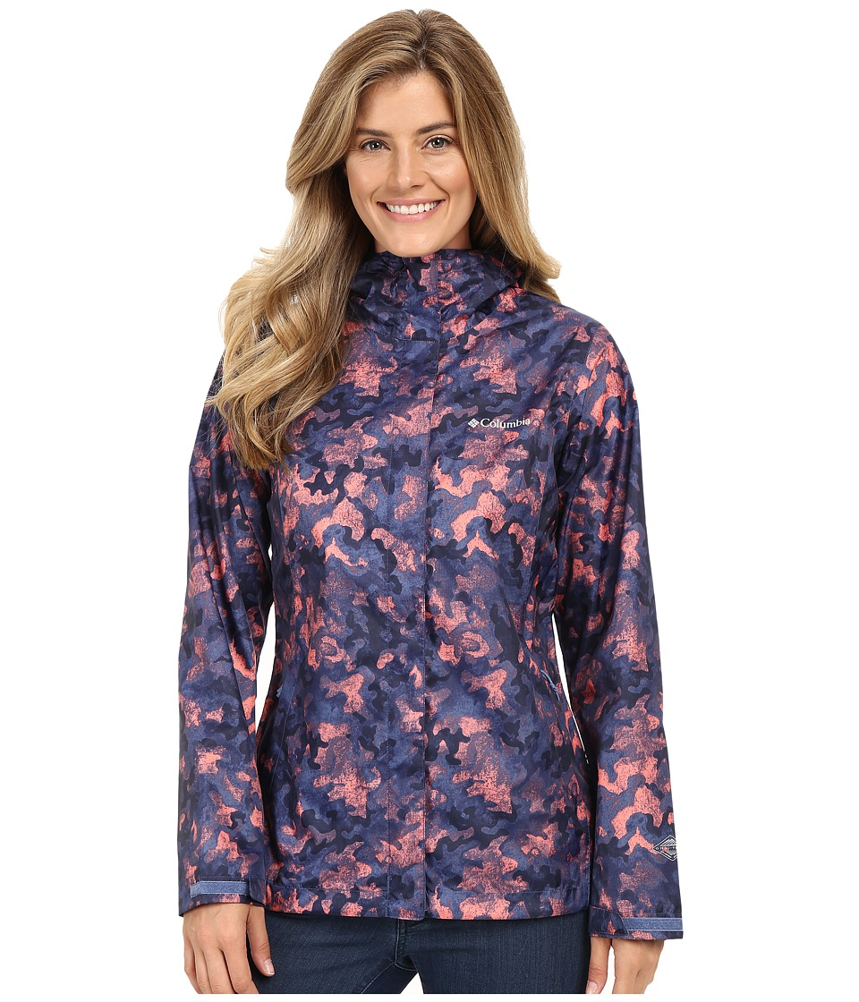 Columbia - Arcadia Print Jacket (Bluebell Camo Print) Women's Coat