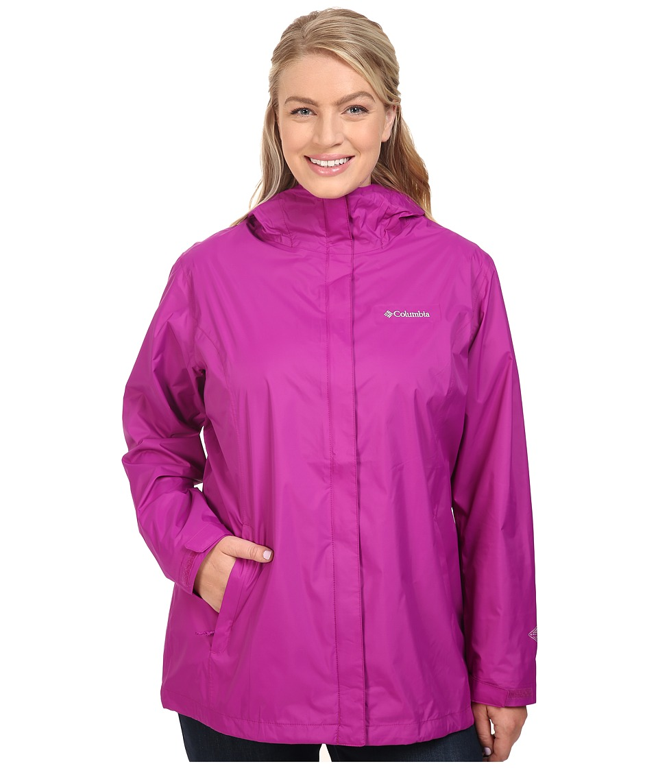 Columbia - Plus Size Arcadia II Jacket (Bright Plum) Women's Coat