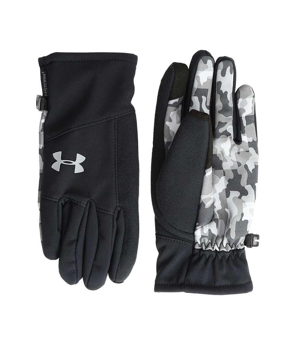 Under Armour - Softshell Glove (Youth) (Black/Graphite/Steel) Extreme Cold Weather Gloves