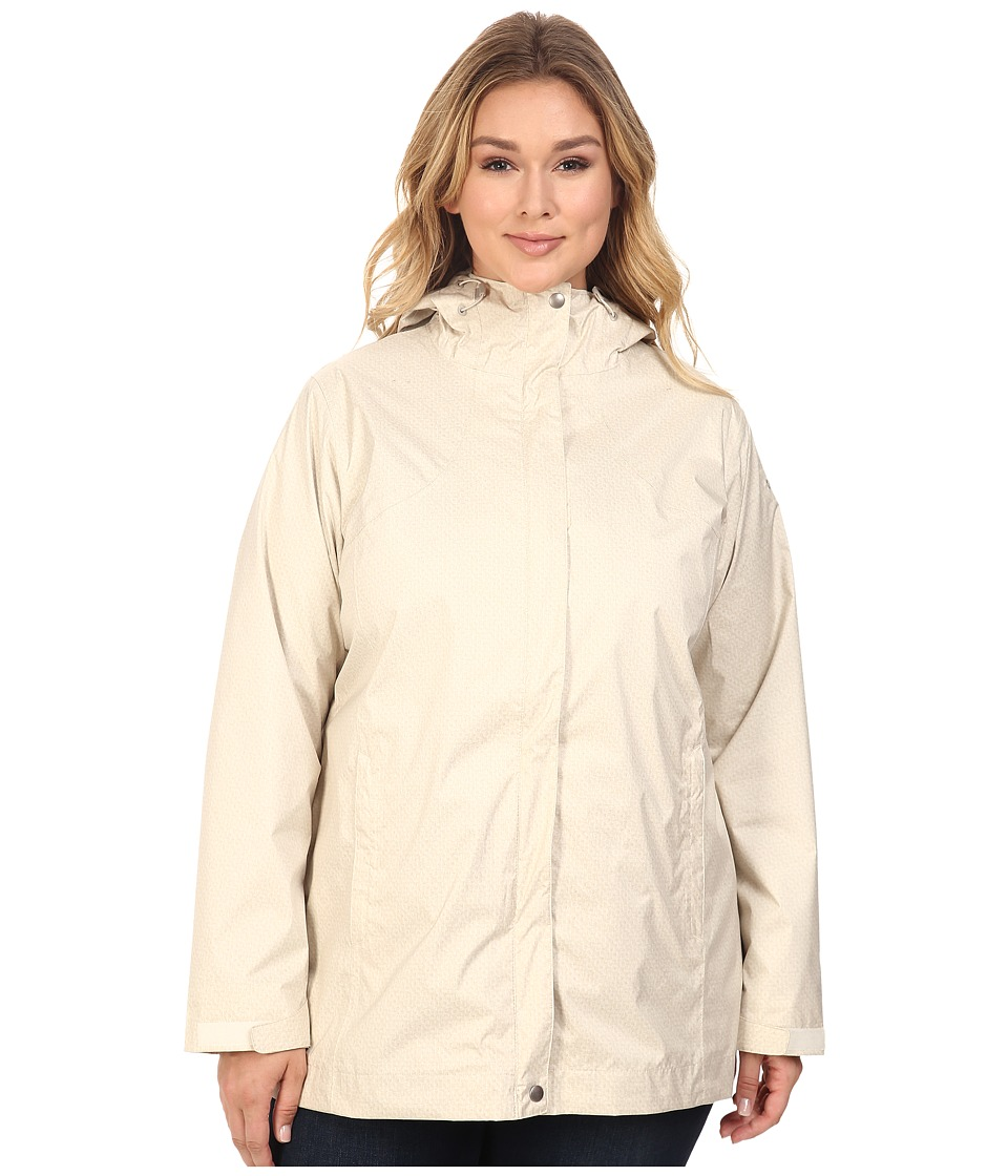 Columbia - Plus Size Splash A Little Rain Jacket (Chalk Lace Print) Women's Coat
