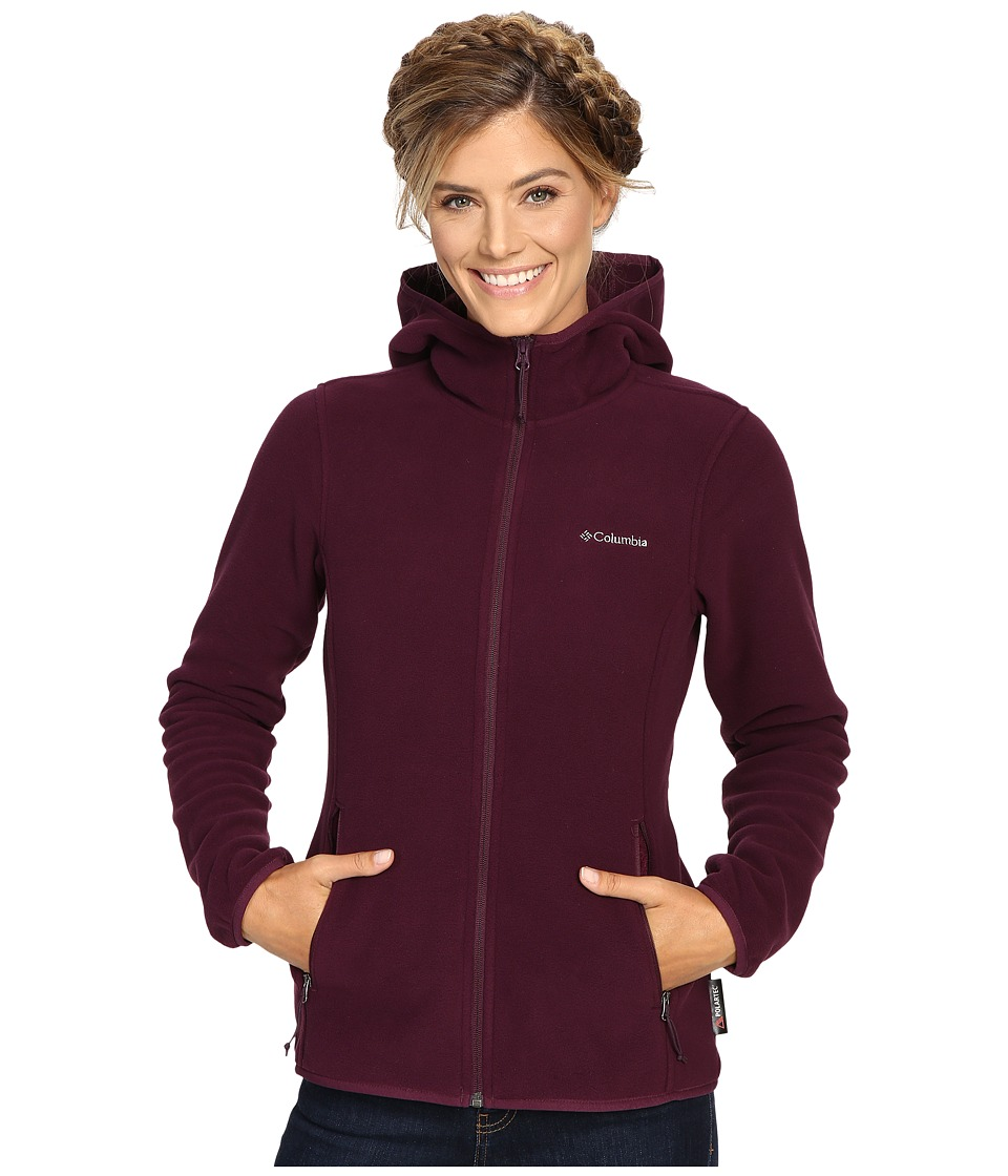Columbia - Fuller Ridge Hooded Fleece Jacket (Purple Dahlia) Women's Coat