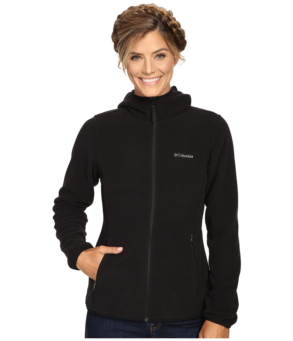 Columbia Fuller Ridge Hooded Fleece Jacket (Black) Women