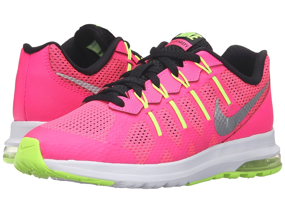 Nike Kids - Air Max Dynasty GP (Little Kid) (Hyper Pink/White/Black/Metallic Silver) Girls Shoes