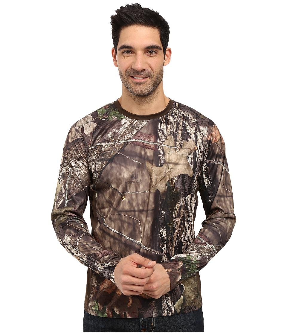 Columbia - Stealth Shot III Zero Long Sleeve Shirt (Mossy Oak Breakup Country/Cordovan) Men's Long Sleeve Pullover