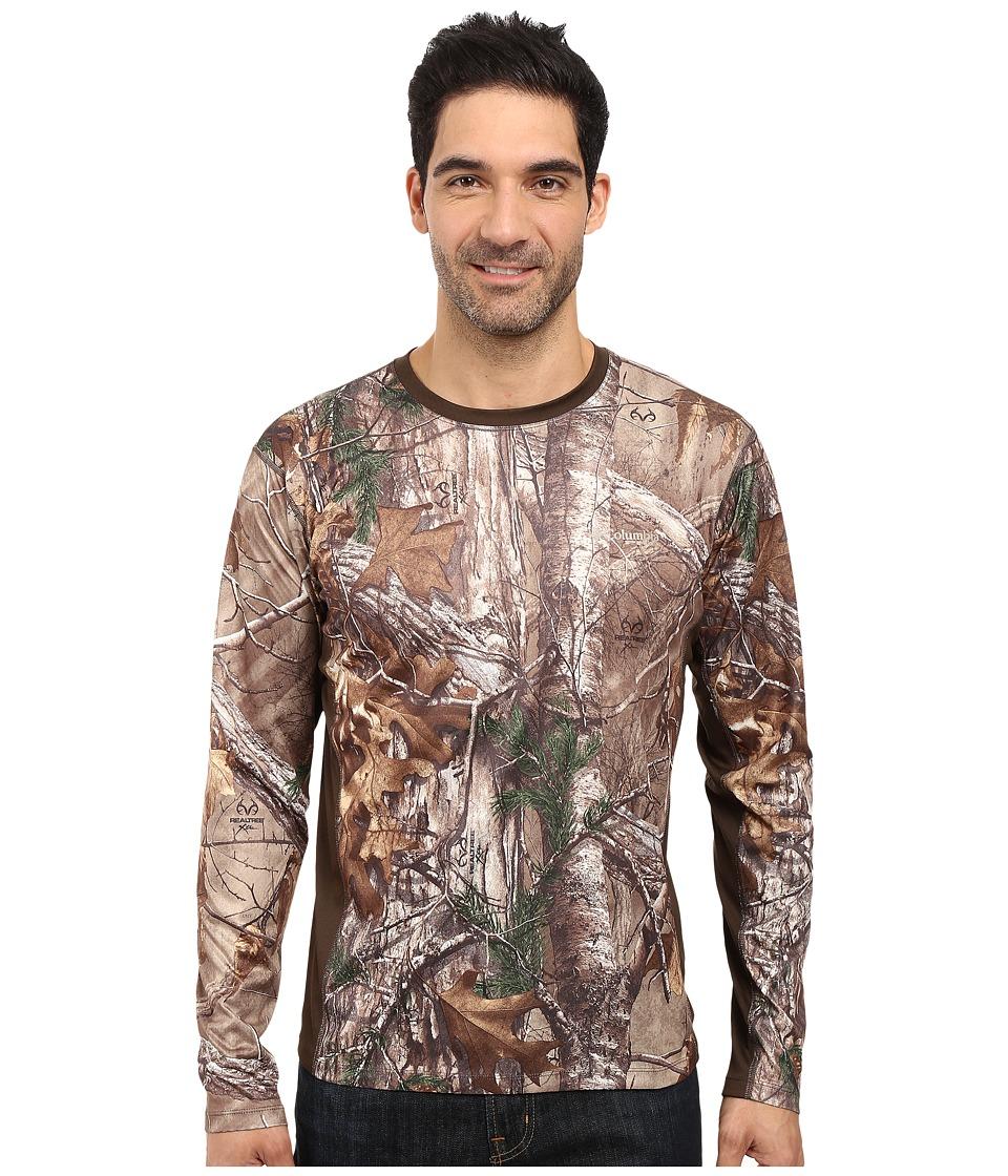 Columbia - Stealth Shot III Zero Long Sleeve Shirt (Realtree Xtra/Cordovan) Men's Long Sleeve Pullover
