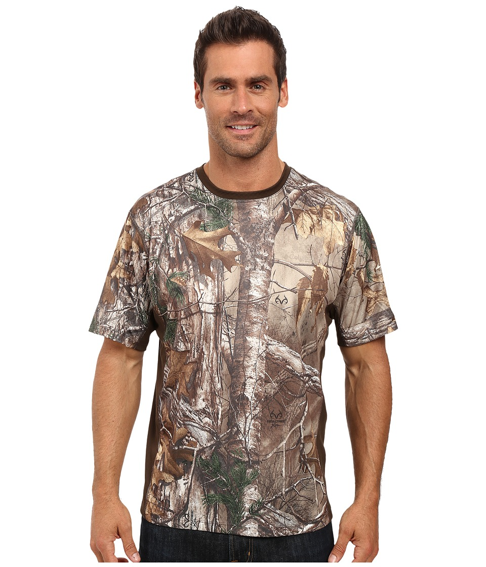 Columbia - Stealth Shot III Zero Short Sleeve Shirt (Realtree Xtra/Cordovan) Men's Short Sleeve Pullover