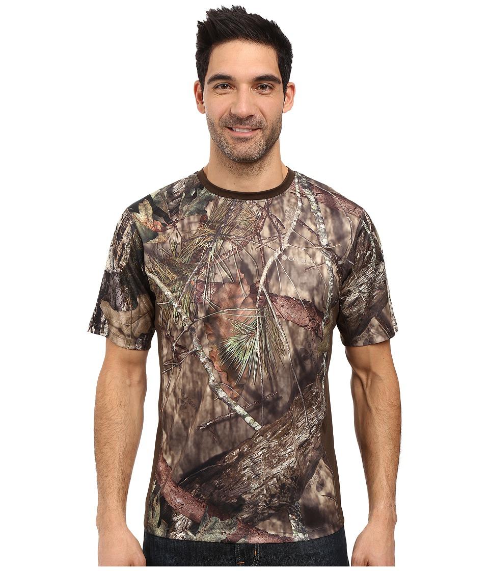 Columbia - Stealth Shot III Zero Short Sleeve Shirt (Mossy Oak Breakup Country/Cordovan) Men's Short Sleeve Pullover
